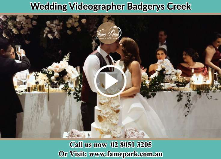 Bride and Groom kissed at the dance floor Badgerys Creek NSW 2255