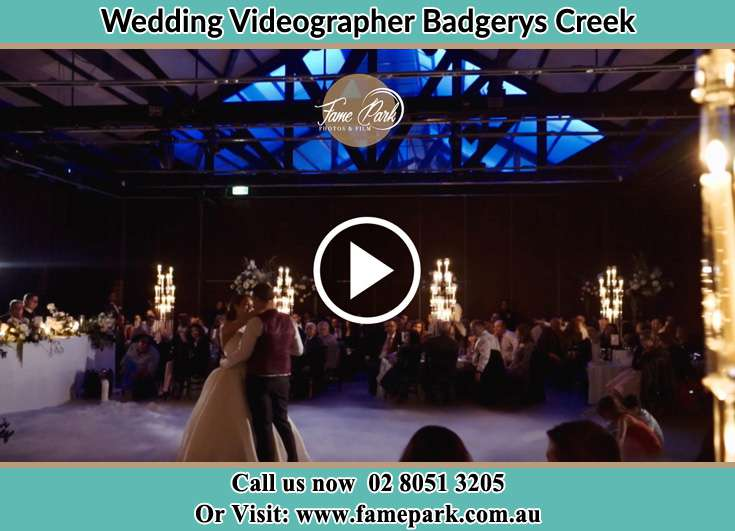Bride and Groom at the dance floor Badgerys Creek NSW 2255