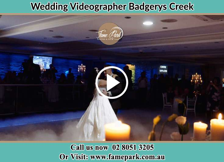 Bride and Groom looking at each other at the dance floor Badgerys Creek NSW 2255