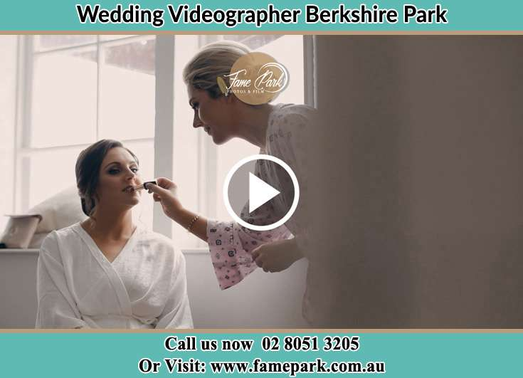 Bride getting her make up done Berkshire Park NSW 2765