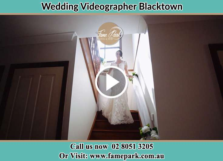 Bride walking down the staircase Blacktown NSW 2148