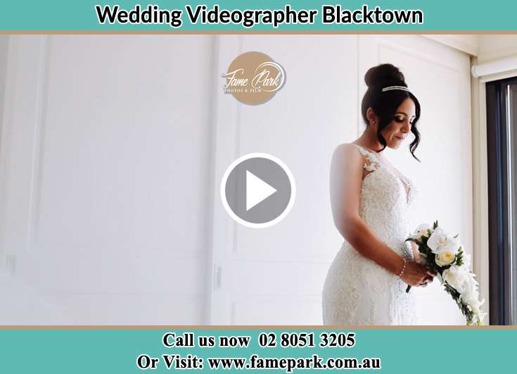 Bride already prepared with bouquet of flowers Blacktown NSW 2148