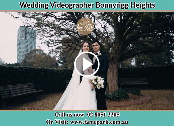 Bride and Groom at the garden Bonnyrigg Heights NSW 2177