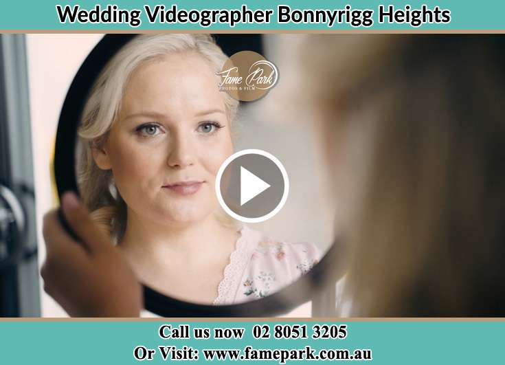 Bride looking at the mirror Bonnyrigg Heights NSW 2177