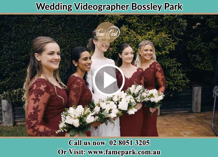 Bride and her secondary sponsors at the garden Bossley Park NSW 2176