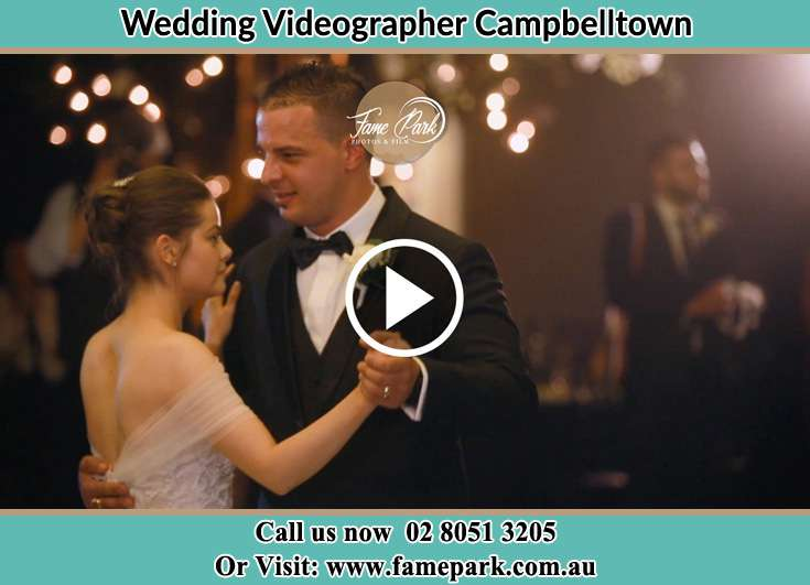 Bride and Groom dance at the dance floor Camellia NSW 2124