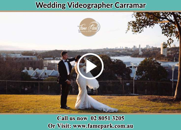 Bride and Groom at the hill Carramar NSW 2163