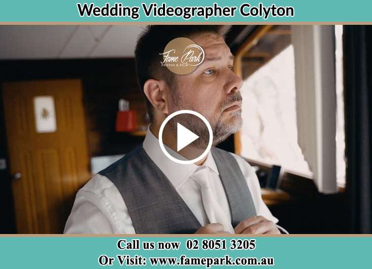 Groom getting ready Colyton NSW 2760