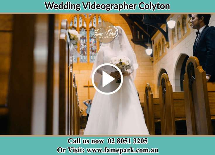 Bride walking at the aisle Colyton NSW 2760