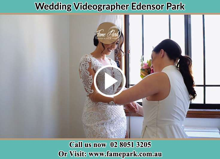 Bride getting ready Edensor Park NSW 2176