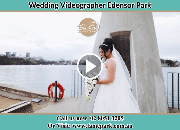 Bride already prepared near the shores Edensor Park NSW 2176