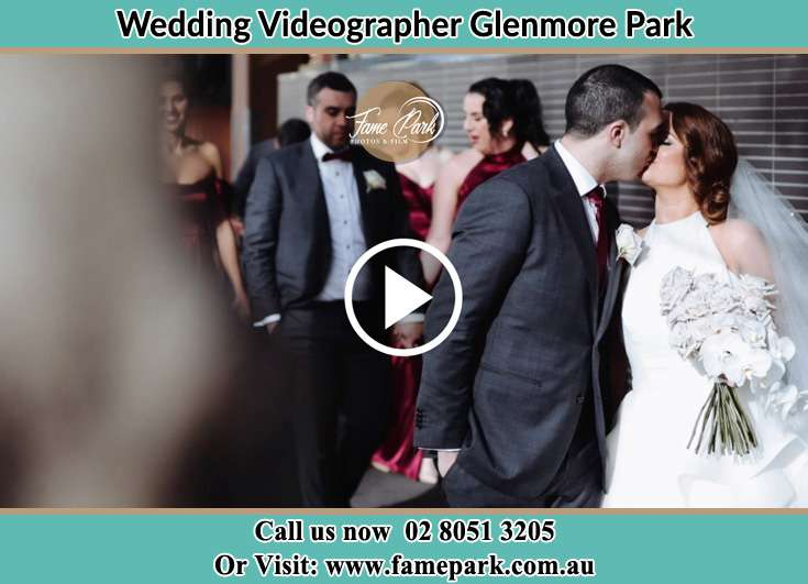 Bride and Groom kissed at the passage way Glenmore Park NSW 2745