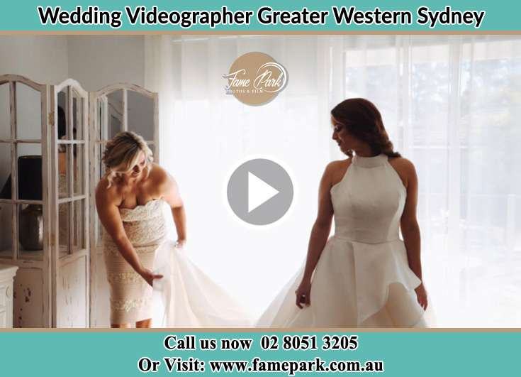 Brides getting ready with the help of her mother Greater Western Sydney