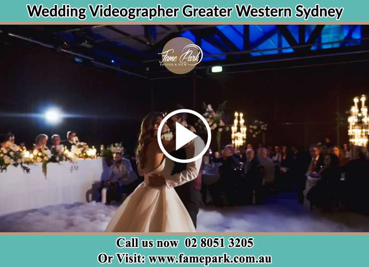 Bride and groom at the dance floor Greater Western Sydney