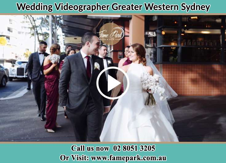 Bride and Groom walking after the ceremony Greater Western Sydney