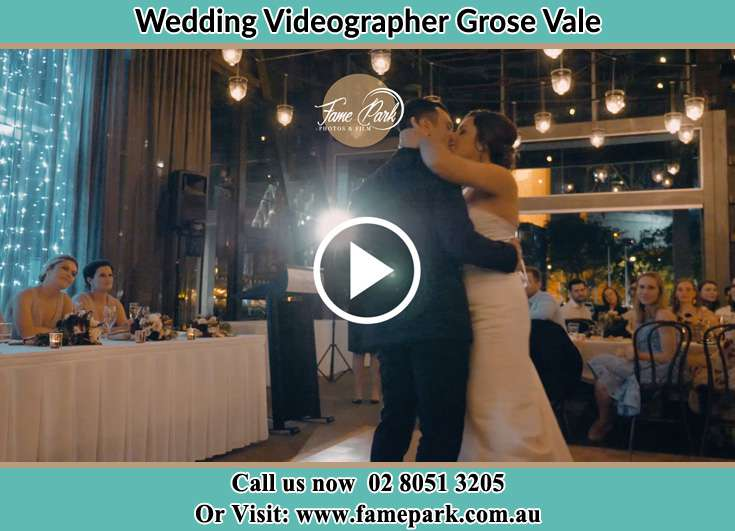 Bride and Groom kissed at the reception Grose Vale NSW 2753