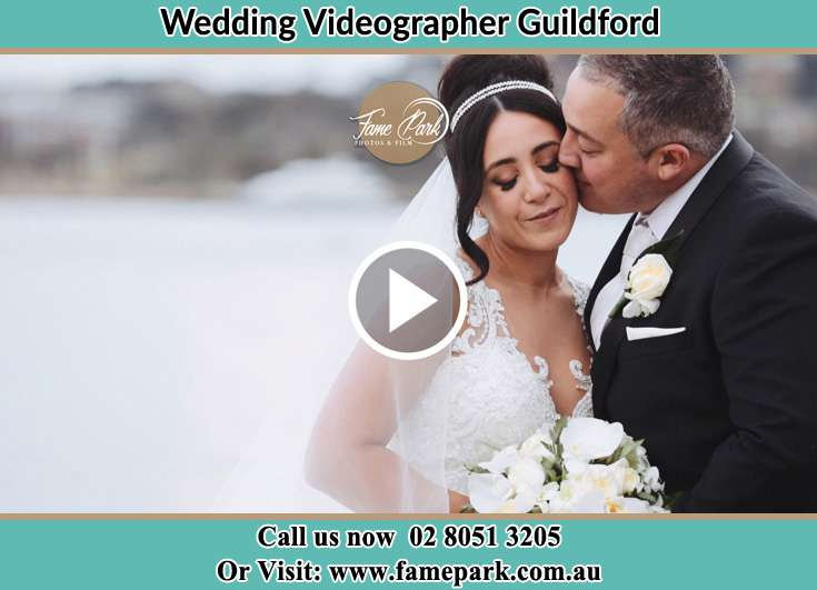 Bride and Groom kissed at the bay Guildford NSW 2161