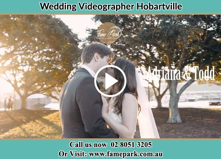 Bride and Groom kissed at the park Hobartville NSW 2753