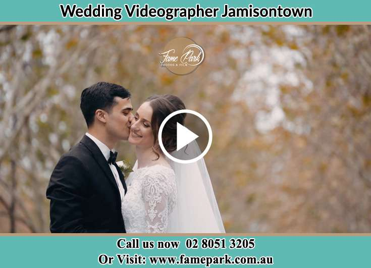 Bride and Groom kissed at the park Jamisontown NSW 2750