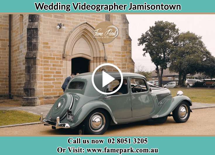 Bride walking down the staircase Jamisontown NSW 2750