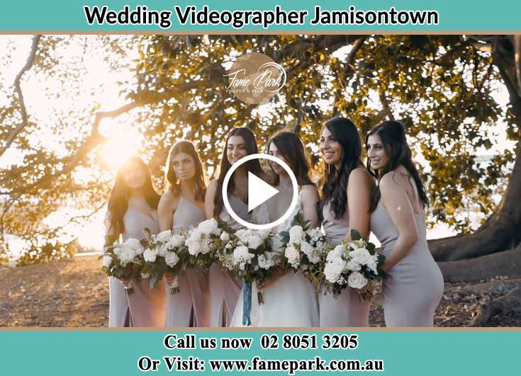 Bride and her secondary sponsors at the park Jamisontown NSW 2750