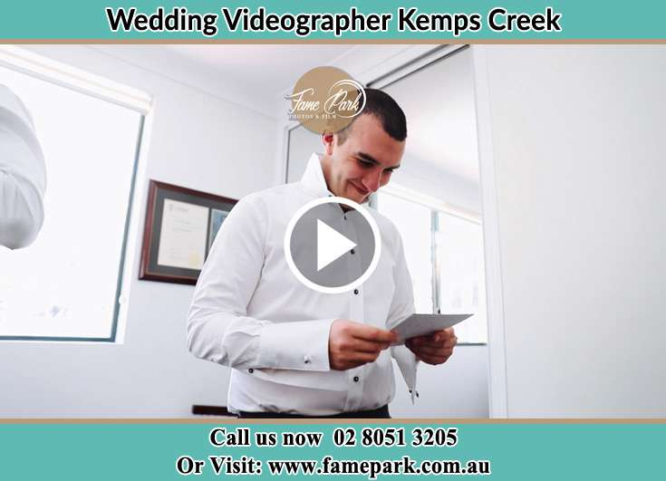 Groom already preparing for the event Kemps Creek NSW 2178