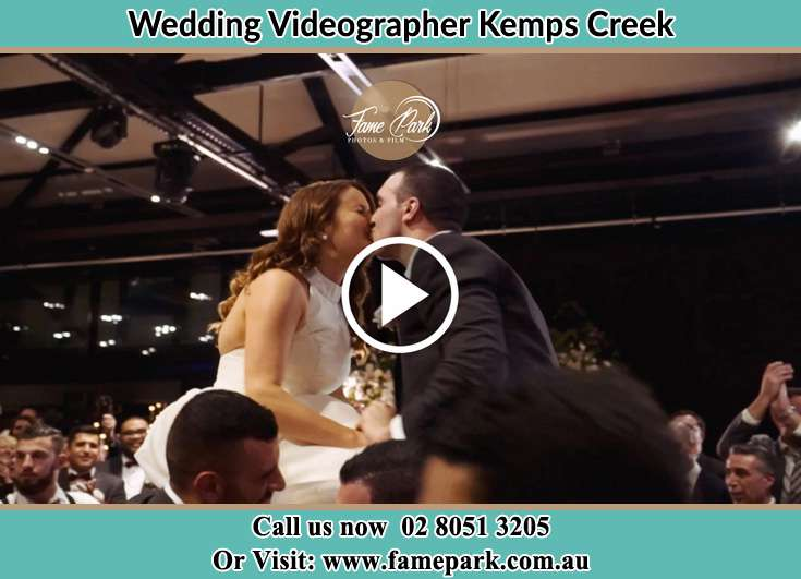 Bride and Groom kissed at the dance floor Kemps Creek NSW 2178
