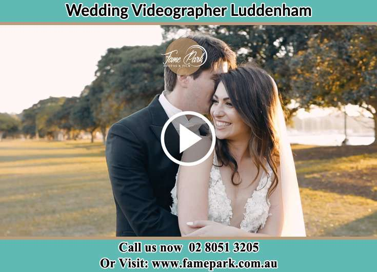 Bride and Groom hold each other at the park Luddenham NSW 2745