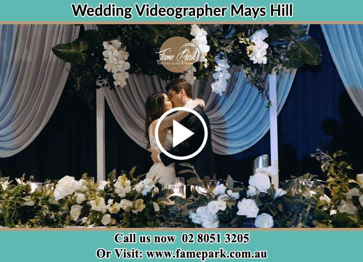 Bride and Groom kissed at the reception Mays Hill NSW 2145