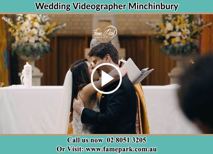 Bride and Groom kissed at the altar Minchinbury NSW 2770