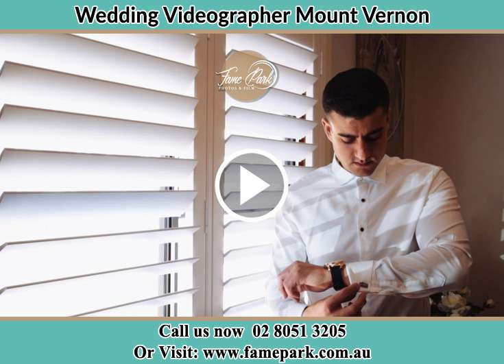 The Groom fixinf his cuffs Mount Vernon NSW 2178