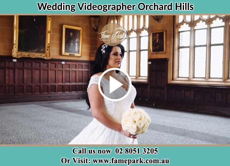 The Bride standing Orchard Hills NSW 2748