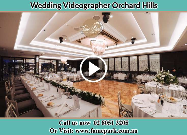 The wedding reception Orchard Hills NSW 2748