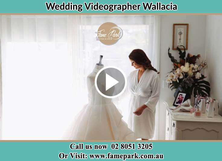 The Bride checking on her bridal gown Wallacia NSW 2745