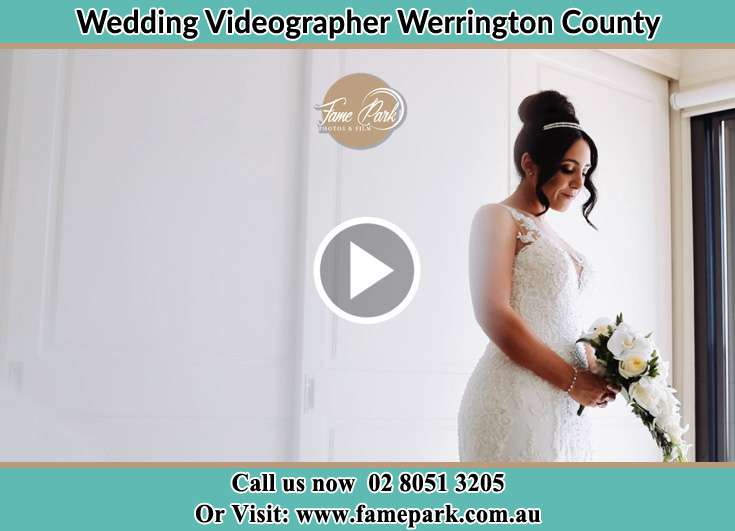 The Bride holding a flower bouquet Werrington County NSW 2747