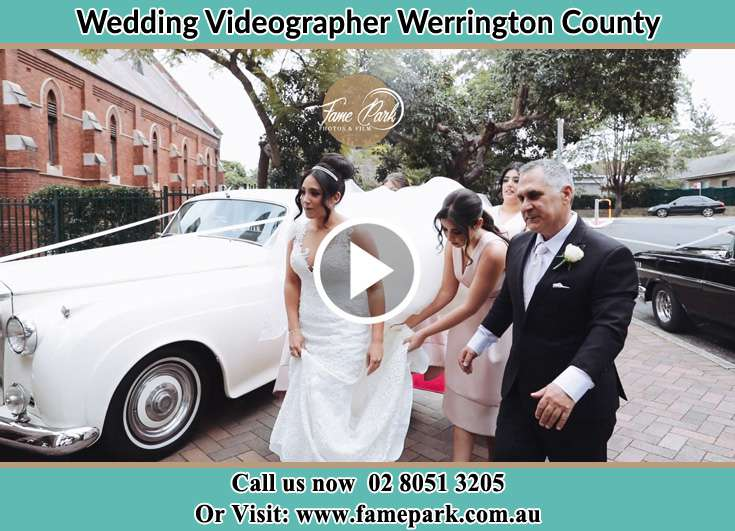 The Bride and her family walking to the wedding venue Werrington County NSW 2747
