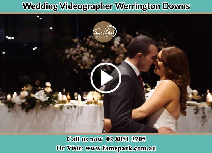 The new couple about to kiss on the dance floor Werrington Downs NSW 2747